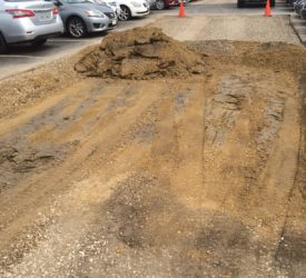Commercial parking lot repair